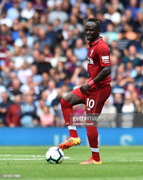 Sadio Mane of Liverpool during the Premier League match between Liverpool FC and West Ham United at Anfield on August 12 2018 in Liverpool United...