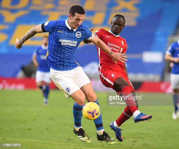 Sadio Mane of Liverpool during the Premier League match between Brighton & Hove Albion and Liverpool at American Express Community Stadium on...