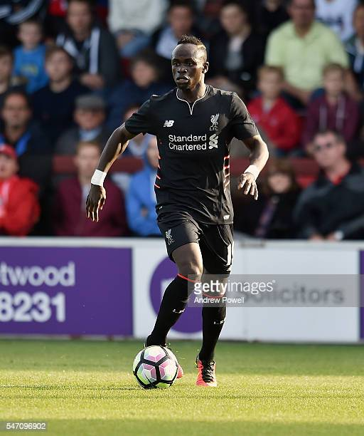 Sadio Mane of Liverpool during the PreSeason Friendly match bewteen Fleetwood Town and Liverpool at Highbury Stadium on July 13 2016 in Fleetwood...
