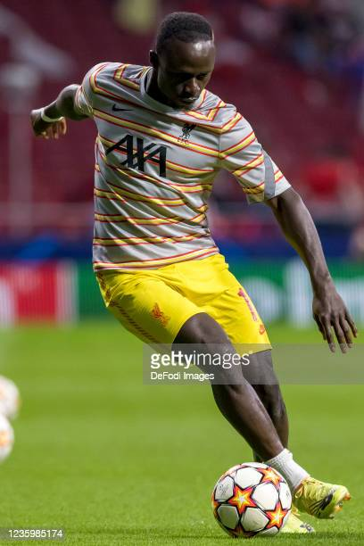 Sadio Mane of Liverpool FC controls the ball prior to the UEFA Champions League group B match between Atletico Madrid and Liverpool FC at Wanda...