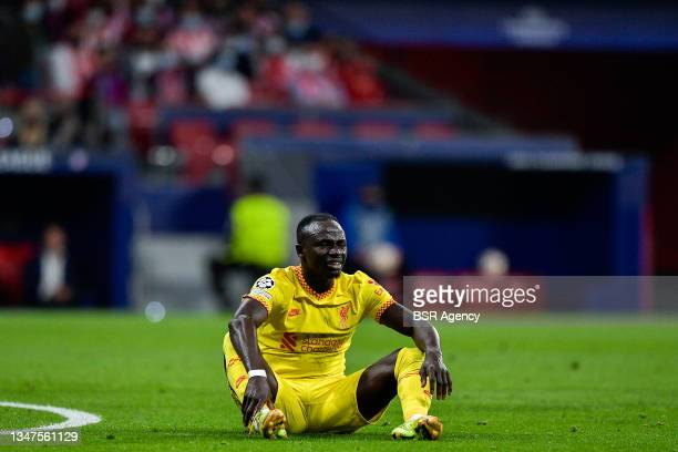 Sadio Mane of Liverpool FC during the Group B - UEFA Champions League match between Club Atletico de Madrid and Liverpool FC at Estadio Metropolitano...