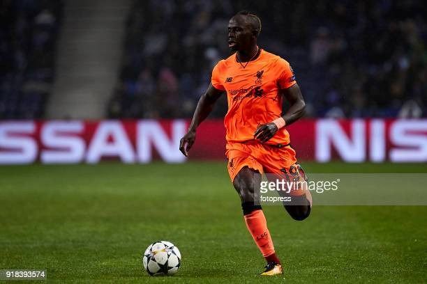 Sadio Mane of Liverpool FC in action during the UEFA Champions League Round of 16 First Leg match between FC Porto and Liverpool FC at Estadio do...