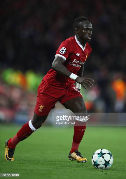Sadio Mane of Liverpool in action during the UEFA Champions League group E match between Liverpool FC and Spartak Moskva at Anfield on December 6...