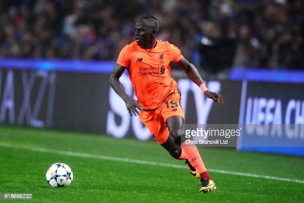 Sadio Mane of Liverpool in action during the UEFA Champions League Round of 16 First Leg match between FC Porto and Liverpool at Estadio do Dragao on...