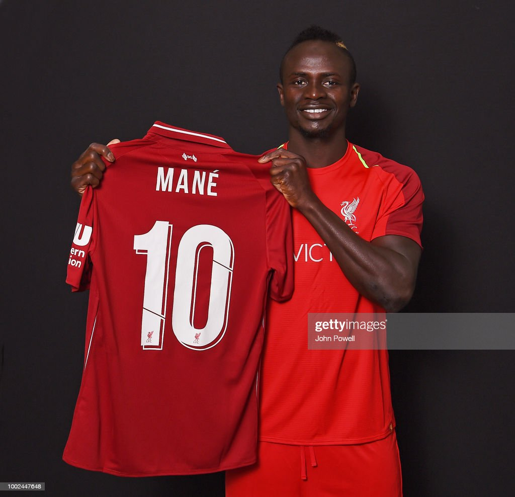 Sadio Mane With His New Number 10 Shirt