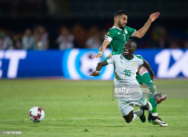 Sadio Mane of Senegal and Riyad Mahrez of Algeria during the 2019 Africa Cup of Nations Group C match between Senegal and Algeria at 30th June...