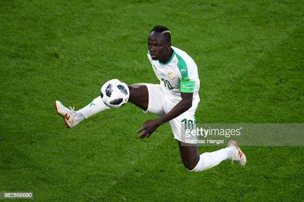 Sadio Mane of Senegal controls the ball during the 2018 FIFA World Cup Russia group H match between Japan and Senegal at Ekaterinburg Arena on June...