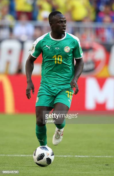 Sadio Mane of Senegal controls the ball during the 2018 FIFA World Cup Russia group H match between Senegal and Colombia at Samara Arena on June 28...