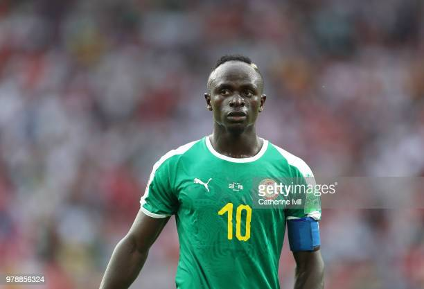 Sadio Mane of Senegal during the 2018 FIFA World Cup Russia group H match between Poland and Senegal at Spartak Stadium on June 19 2018 in Moscow...