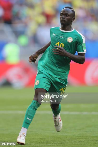 Sadio Mane of Senegal during the 2018 FIFA World Cup Russia group H match between Senegal and Colombia at Samara Arena on June 28 2018 in Samara...