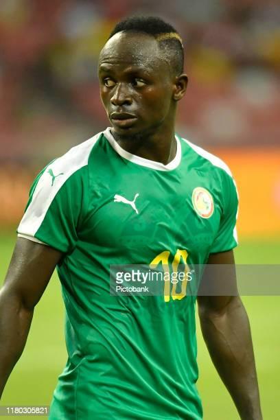 October 10: Sadio Mane of Senegal during the International Friendly between Brazil and Senegal at the Singapore National Stadium on October 10, 2019...