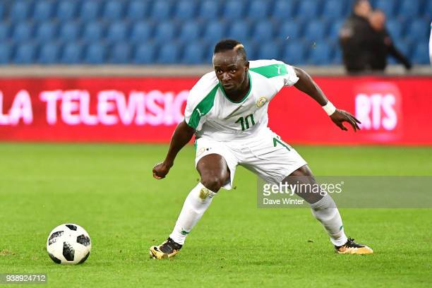 Sadio Mane of Senegal during the international friendly match match between Senegal and Bosnia Herzegovina on March 27 2018 in Le Havre France