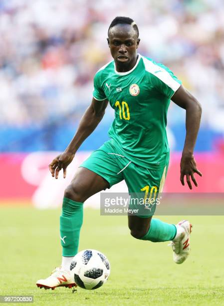 Sadio Mane of Senegal in action during the 2018 FIFA World Cup Russia group H match between Senegal and Colombia at Samara Arena on June 28 2018 in...