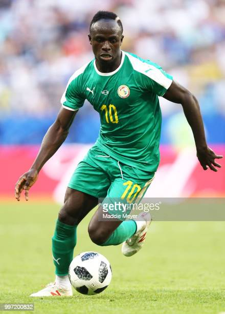 June 28: Sadio Mane of Senegal in action during the 2018 FIFA World Cup Russia group H match between Senegal and Colombia at Samara Arena on June 28,...