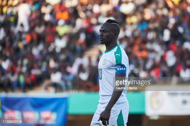 Sadio Mane of Senegal looks on during a friendly match between Senegal and Mali after both teams qualified for the 2019 CAN held in Egypt, on March...