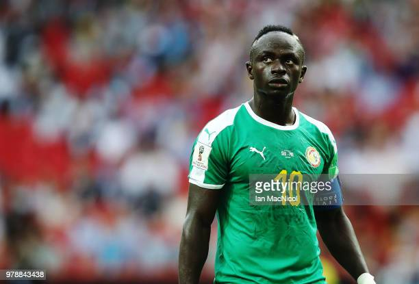 Sadio Mane of Senegal looks on during the 2018 FIFA World Cup Russia group H match between Poland and Senegal at Spartak Stadium on June 19 2018 in...