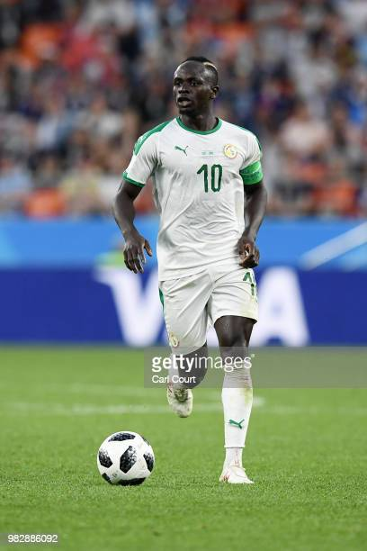 Sadio Mane of Senegal runs with the ball during the 2018 FIFA World Cup Russia group H match between Japan and Senegal at Ekaterinburg Arena on June...