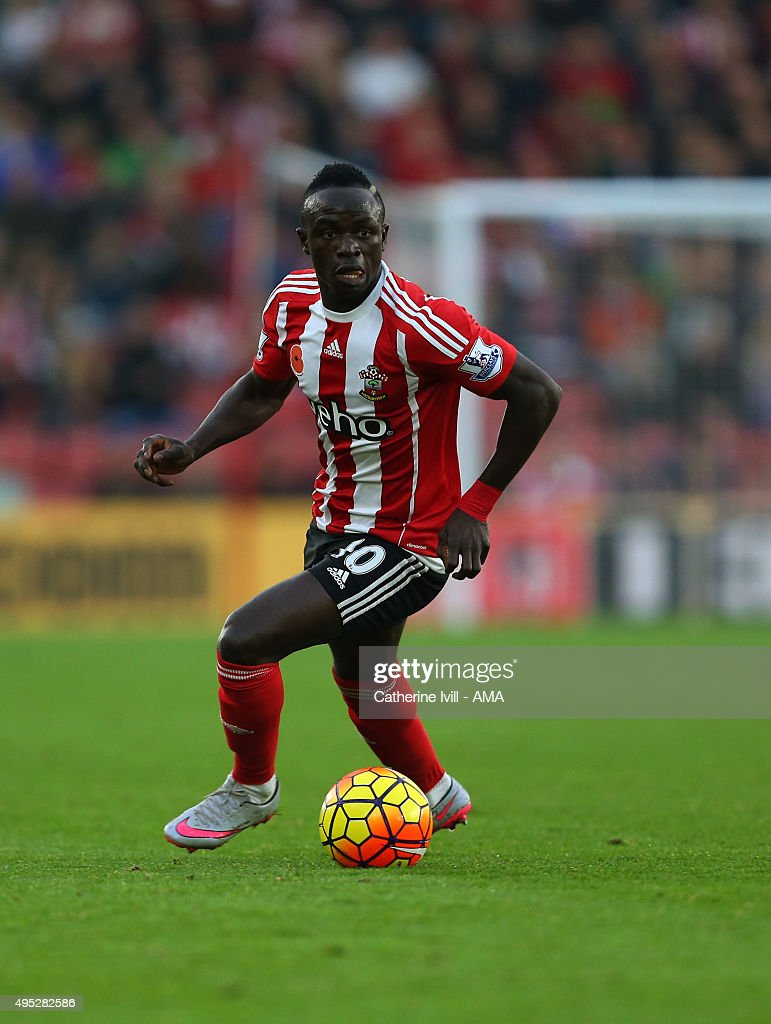 Sadio Mane of Southampton during the Barclays Premier League match between Southampton and A.F.C Bournemouth at St Mary's Stadium on November 1, 2015 in Southampton, England.