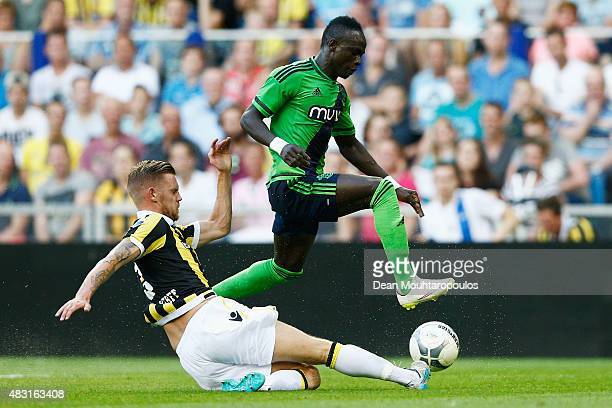 Sadio Mane of Southampton jumps the tackle from Maikel van der Werff of Vitesse during the UEFA Europa League third qualifying Round 2nd Leg match...