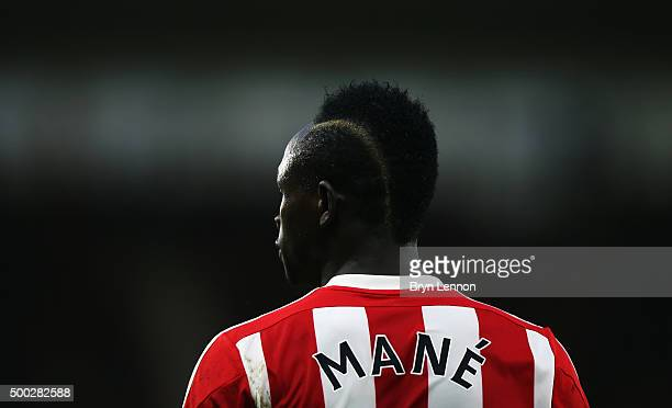 Sadio Mane of Southampton looks on during the Barclays Premier League match between Southampton and Aston Villa at St Mary's Stadium on December 5...