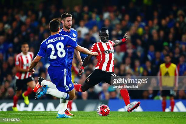 Sadio Mane of Southampton scores his team's second goal during the Barclays Premier League match between Chelsea and Southampton at Stamford Bridge...