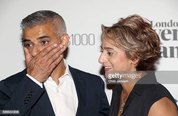 Sadiq Khan and Saadiya Khan attend London Evening Standard's Progress 1000 at Science Museum on September 7 2016 in London England