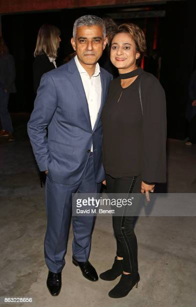 Sadiq Khan and Saadiya Khan attend The London Evening Standard's Progress 1000 London's Most Influential People in partnership with Citi on October...