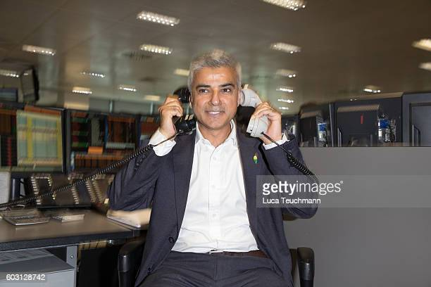Sadiq Khan arrives for BGC Annual Global Charity Day at Canary Wharf on September 12 2016 in London England