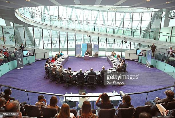Sadiq Khan attends his first Mayor's question time at City Hall on May 25, 2016 in London, England. The new London Mayor, elected in May, answers...