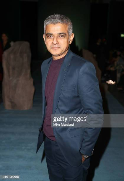 Sadiq Khan attends the Ashley Williams show during London Fashion Week February 2018 at on February 16 2018 in London England