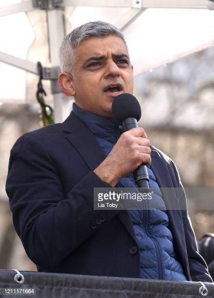 Sadiq Khan during the #March4Women 2020 on March 08 2020 in London England The event is to mark International Women's Day