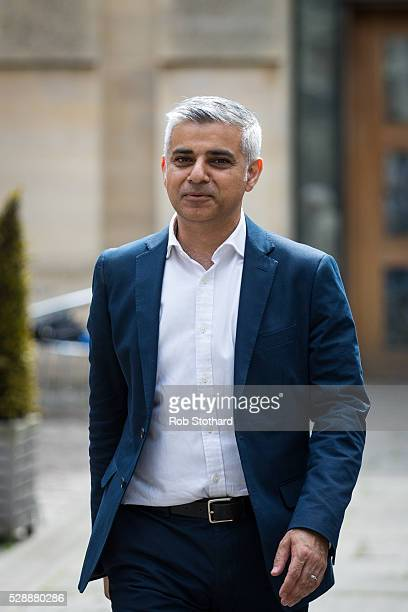 Sadiq Khan Mayorelect of London leaves Southwark Cathedral on May 7 2016 in London England Khan the Labour MP for Tooting was sworn in as Mayor of...