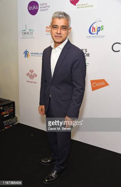 Sadiq Khan representing the Mayor's Fund For London attends BGC Charity Day at One Churchill Place on September 11, 2019 in London, England.
