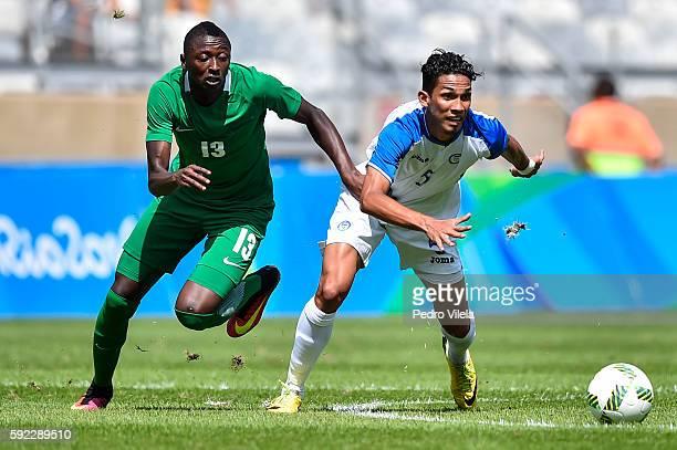 Sadiq UMAR of Nigeria and Allan Vargas of Honduras battle for the ball during a match between Nigeria and Honduras as part of Men`s Football Olympics...