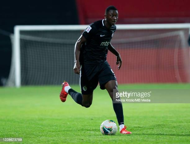 Sadiq Umar of Partizan Belgrade comes forward on the ball during the Linglong Tire SuperLiga Srbije match between Zlatibor v FK Partizan at Gradski...