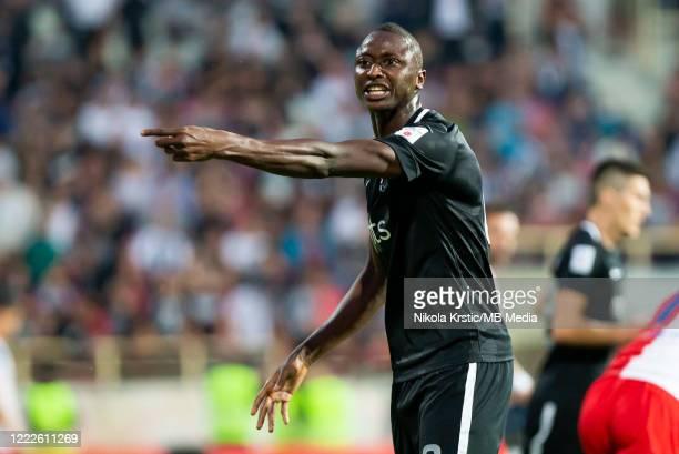 Sadiq Umar of Partizan Belgrade gestures during the final Supercup match on June 24 2020 in Nis Serbia