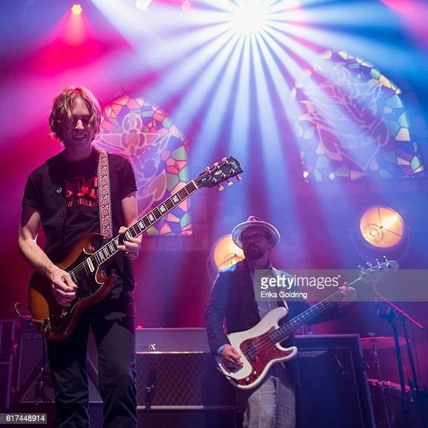 Sadler Vaden and Jimbo Hart of Jason Isbell and The 400 Unit perform at The Joy Theater on October 22 2016 in New Orleans Louisiana