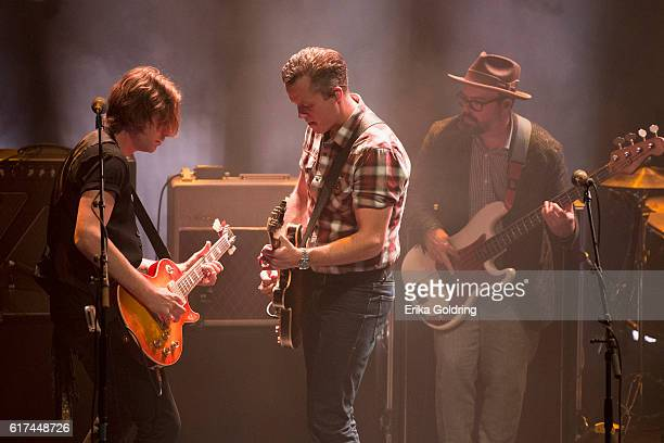 Sadler Vaden Jason Isbell and Jimbo Hart perform at The Joy Theater on October 22 2016 in New Orleans Louisiana