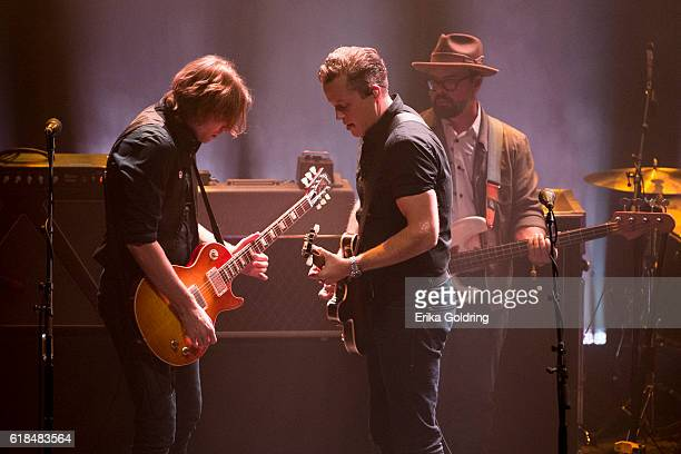 Sadler Vaden Jason Isbell and Jimbo Hart perform at The Joy Theater on October 23 2016 in New Orleans Louisiana