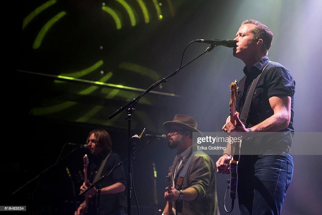 Sadler Vaden, Jimbo Hart and Jason Isbell perform at The Joy Theater on October 23, 2016 in New Orleans, Louisiana.