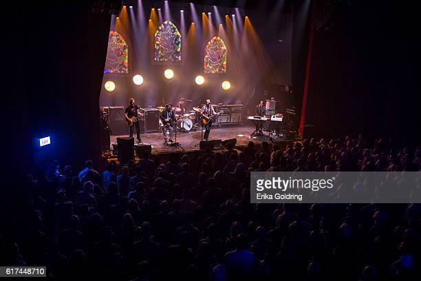 Sadler Vaden Jimbo HArt Chad Gamble Jason Isbell and Derry deBorja perform at The Joy Theater on October 22 2016 in New Orleans Louisiana