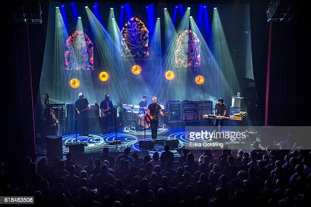 Sadler Vaden Jimbo Hart Chad Gamble Jason Isbell and Derry deBorja perform at The Joy Theater on October 23 2016 in New Orleans Louisiana
