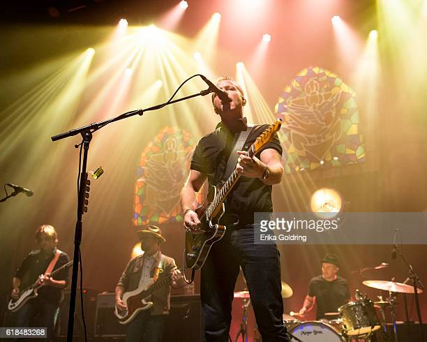 Sadler Vaden Jimbo Hart Jason Isbell and Chad Gamble perform at The Joy Theater on October 23 2016 in New Orleans Louisiana