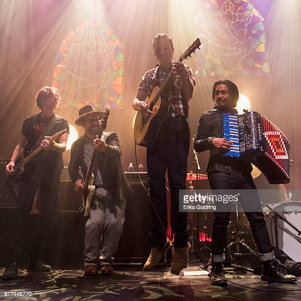 Sadler Vaden Jimbo Hart Jason Isbell and Derry deBorja perform at The Joy Theater on October 22 2016 in New Orleans Louisiana