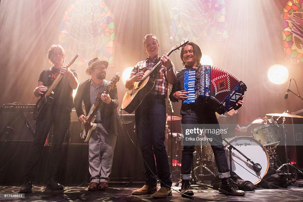 Sadler Vaden, Jimbo Hart, Jason Isbell and Derry deBorja perform at The Joy Theater on October 22, 2016 in New Orleans, Louisiana.