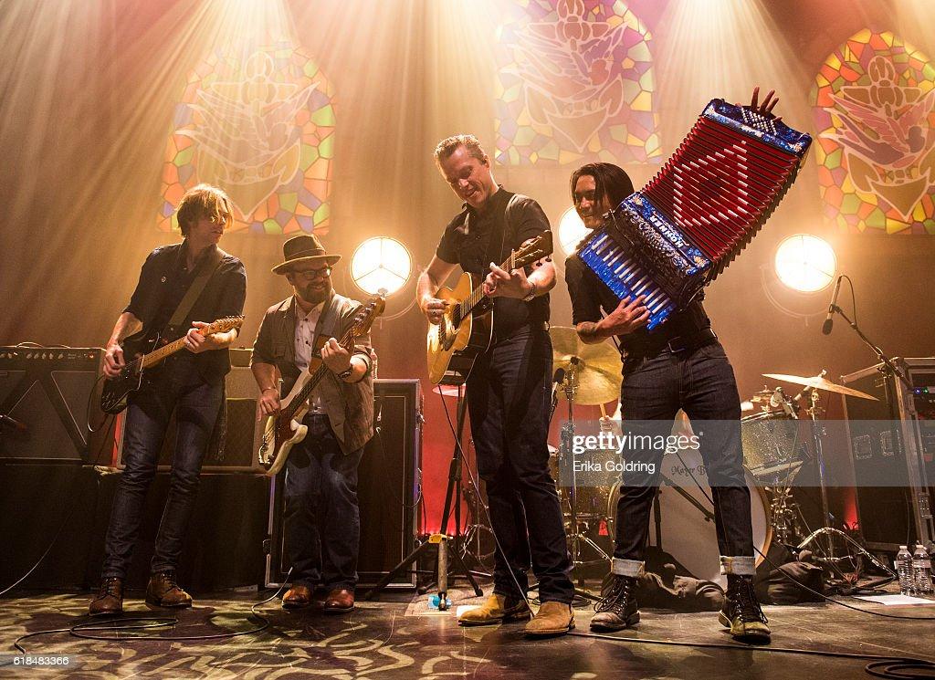 Sadler Vaden, Jimbo Hart, Jason Isbell and Derry deBorja perform at The Joy Theater on October 23, 2016 in New Orleans, Louisiana.
