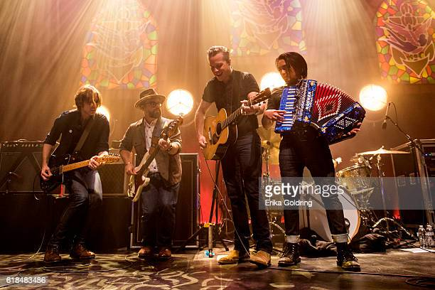 Sadler Vaden Jimbo Hart Jason Isbell and Derry deBorja perform at The Joy Theater on October 23 2016 in New Orleans Louisiana