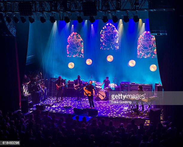 Sadler Vaden Jimbo Hart Jason Isbell Chad Gamble and Derry deBorja perform at The Joy Theater on October 23 2016 in New Orleans Louisiana