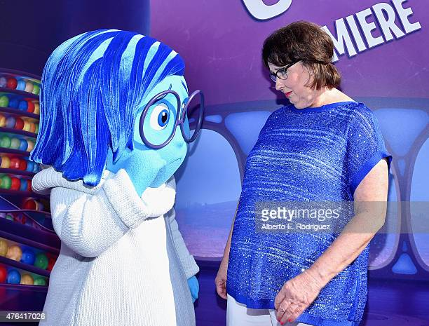 Sadness and actress Phyllis Smith attends the Los Angeles Premiere and Party for Disney•Pixar's INSIDE OUT at El Capitan Theatre on June 8 2015 in...