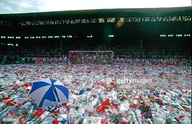 Sadness engulfs Anfield and the Kop Stand as many hundreds of thousands of tributes are laid in memory of the 96 people who died at Hillsborough...